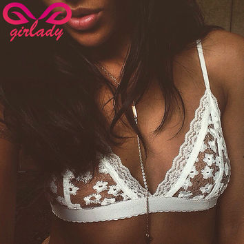 Lace Flower Bralette Bras  For Ladies