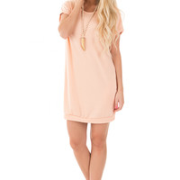 Blush Knit Side Pocket Dress