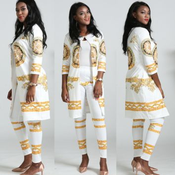 Womens VERSACE Top Outwear and Pants Sets