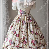 Sweet Magic Tea Party JSK Flowers Lolita Half Dress