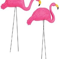 "Two 26"" Pink Flamingo Party Decoration Yard Ornaments"
