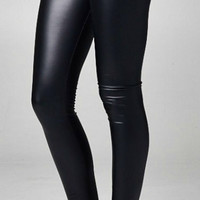Pleather Leggings - Black