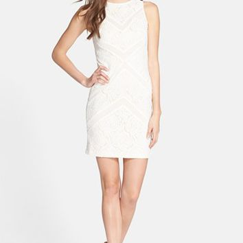 Women's Julia Jordan Lace Sleeveless Sheath Dress