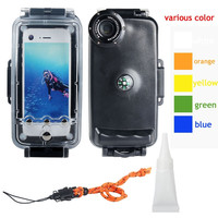 2015 High Quality 40M/130ft 40M Underwater Waterproof Hard Diving Case IPX8 Protection Housing For iPhone 6 6S - 4.7inch