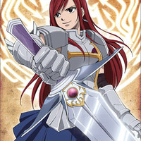 Fairy Tail: Erza with Sword Anime Wall Scroll