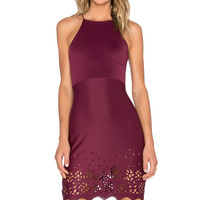 De Lacy Abigail Dress in Merlot