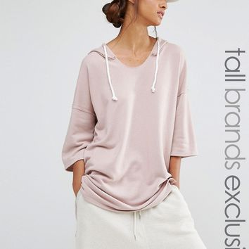 Daisy Street Tall Oversized Hooded Sweat Top at asos.com