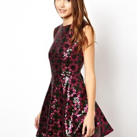 ASOS Star Sequin Tulip Dress