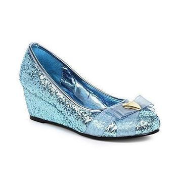 Ellie Shoe E-018-PRINCESS  Wedge style Women's Glitter Princess Shoe with Heart décor