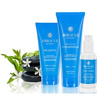 Miracle Anti-Aging Shampoo, Extreme Conditioner & Hair Serum (3-Pack)