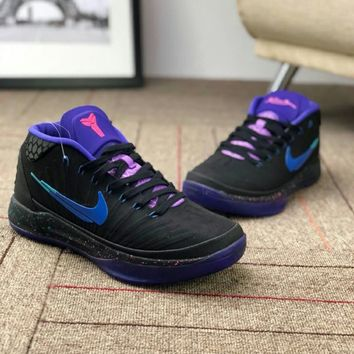 Nike Kobe Fly Line Trending Men Comfortable Low Top Sport Basketball Shoe Sneakers Black Purple I-CSXY