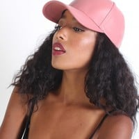 Vegan Leather Cap - Blush - Shopping Bare