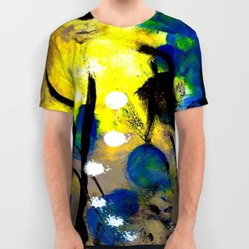 Abstract Painting All Over Print Shirt by Yuval Ozery