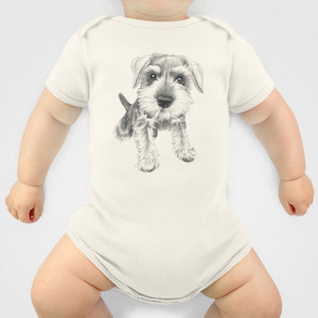 Schnozz the Schnauzer Onesuit by Beth Thompson