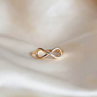 Forever Isn't Long Enough Gold Infinity Ring