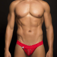 MOB Men's Lace Waist Thong