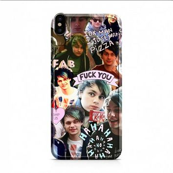 Michael Clifford collage iPhone X case