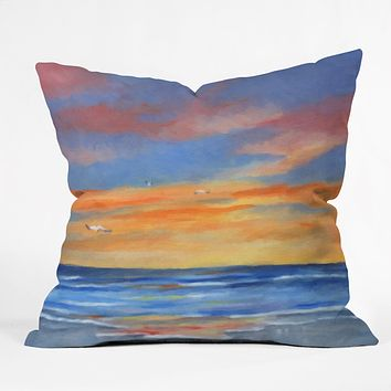 Rosie Brown Sunset Reflections Throw Pillow