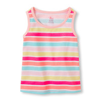 Toddler Girls Matchables Sleeveless Printed Top | The Children's Place