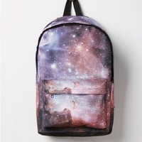 Purple Galaxy Canvas Backpack