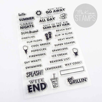 "Ms. Kimm Creates HELLO SUMMER 4""x6"" Photopolymer Stamp Set - Limited Release"