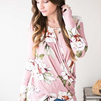 Fields Of You Cross Front Floral Top