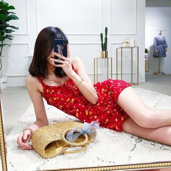 RED FLORAL DRESS (4 colors)