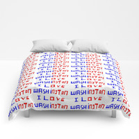 I love Washington-washington,washingtonian,american rome,dc,white house Comforters by oldking