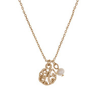 Gold Letter Monogram A Necklace