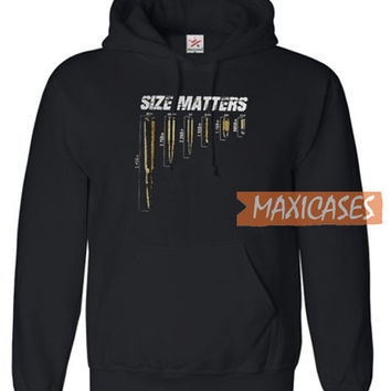 Size Matters Bullets Hoodie Unisex Adult Size S to 3XL