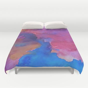 Close Your Eyes Duvet Cover by DuckyB