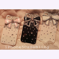iPhone 4 Case, iPhone 5 Case, Bling iPhone 4 case, Cute iPhone 4 case, Cute iphone 5 case, iphone 5 bling case, iPhone 4 case bow