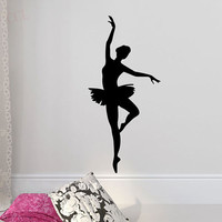 Multi-Color Dancing Ballerina Wall Decals