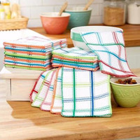 Dishcloth Set 20 Pce Cotton Waffle Weave Oversized Large Absorbent Multicolored