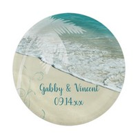 Tropical Beach Wedding Paper Plate