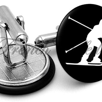 Skiing Dude Alternate Cufflinks