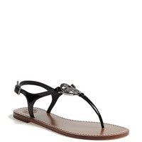 Tory Burch 'Violet' Patent Leather Thong Sandal