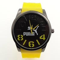 Puma Simple Silicone Belt Trending Ladies Men Watch Wrist Watch Yellow I-SBHY-WSL
