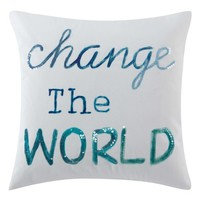 kensie Change The World Accent Pillow   Nordstrom