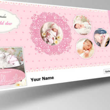 Facebook Timeline cover - new born baby photography - photoshop template - Instant Download