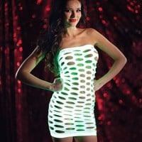 Glowing Tube Dress - Rave Outfits from Raveware