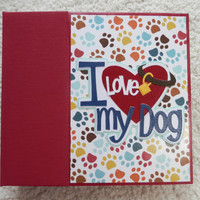 6x6 I Love My Dog Scrapbook Album