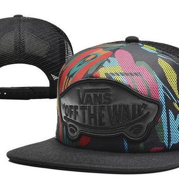 VANS Women Men Embroidery Sports Hip Hop Baseball Cap Hat