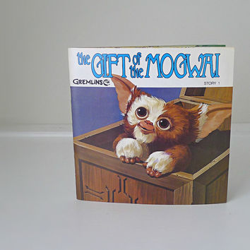"1980s Collectible, ""Gremlins"" Record / Story Book - movie memorabilia, toys, kids, children, book, 45 record"