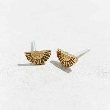 Laurel Hill Arc Relic Earring- Gold One