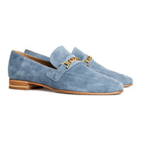 H&M - Suede Loafers - Blue - Ladies