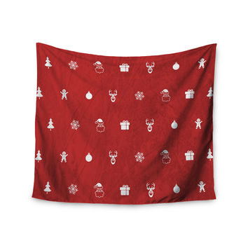 "Snap Studio ""Cheery Pattern Red"" Maroon Wall Tapestry"