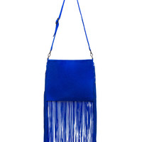 Blair Crossbody Bag in Cobalt Suede
