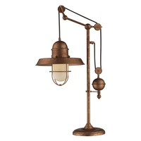 ELK Lighting Farmhouse 65062-1 Table Lamp - 12W in. - Bellwether Copper | www.hayneedle.com