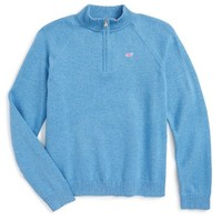 Vineyard Vines Quarter Zip Sweater (Toddler Girls, Little Girls & Big Girls) | Nordstrom